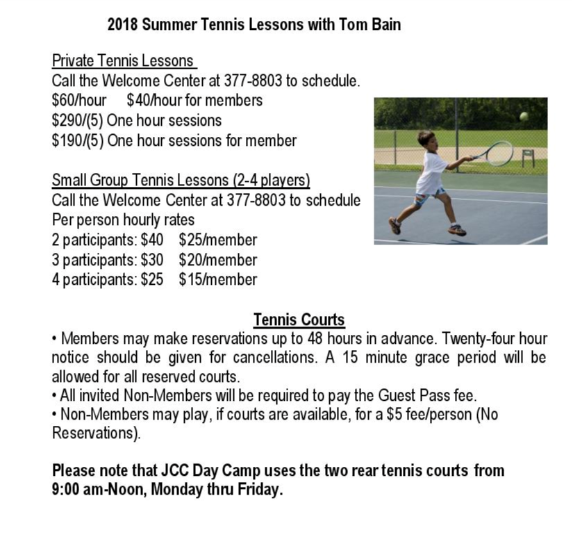 Tennis - Schenectady Jewish Community Center
