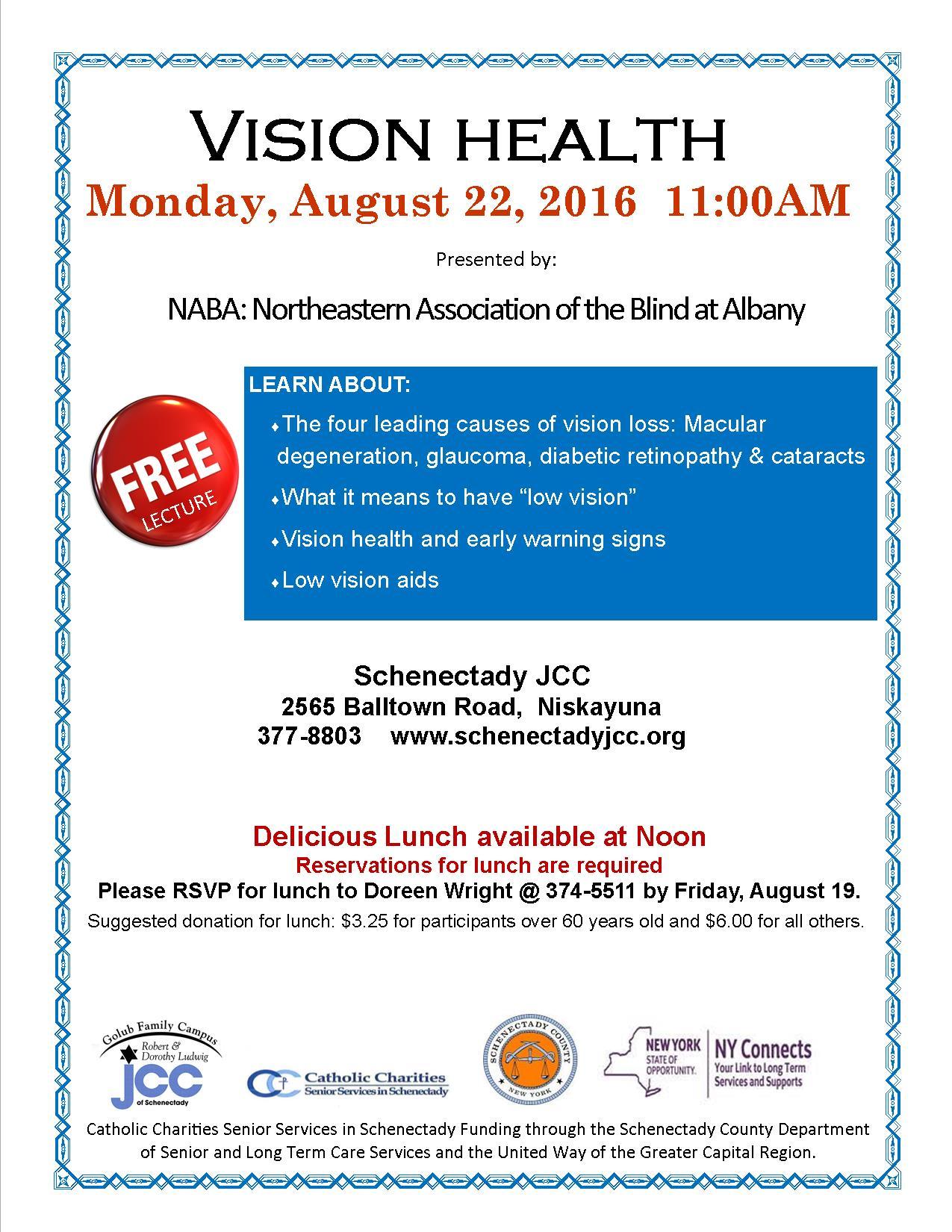 Vision Health - Schenectady Jewish Community Center
