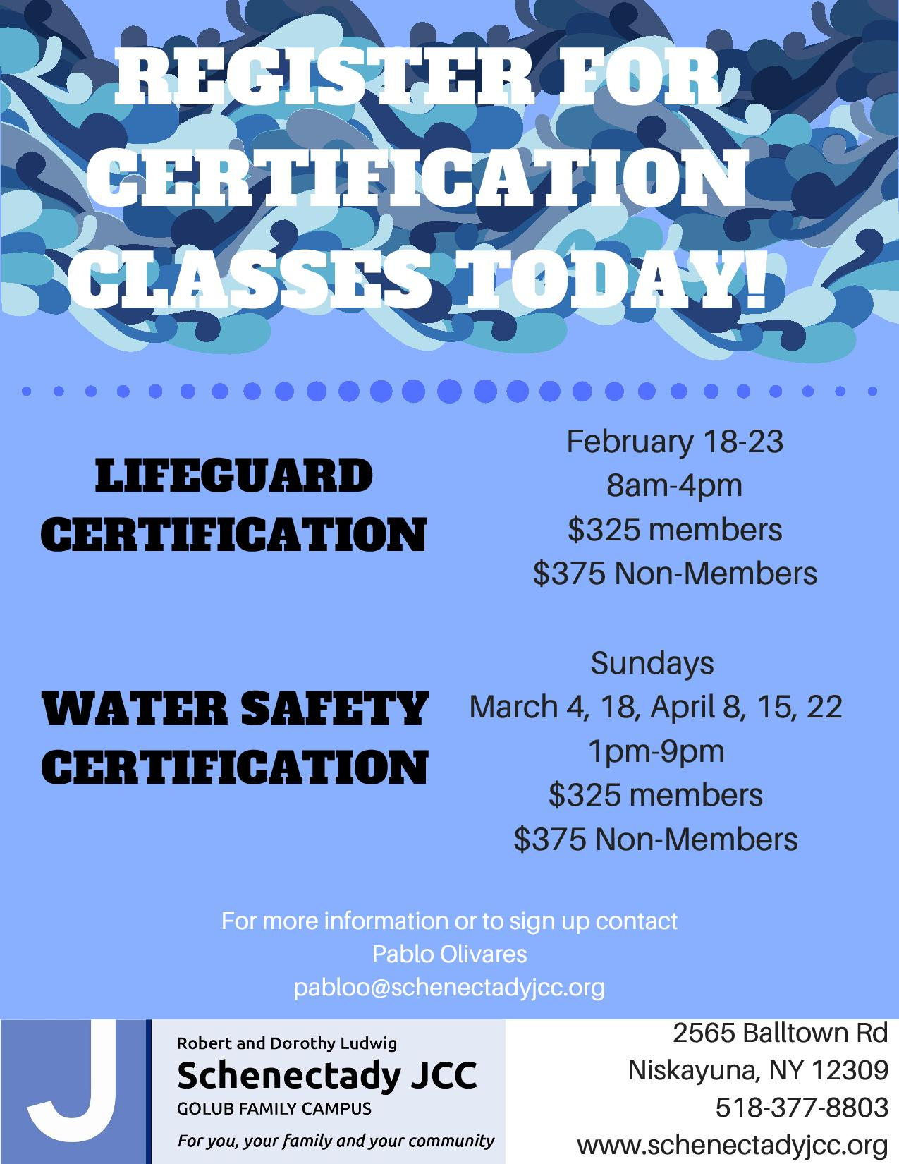 Red cross certification classes schenectady jewish community center red cross certification classes xflitez Image collections